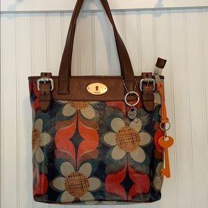Fossil Key-Per coated vinyl purse